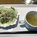 焼肉のバーンズ - サラダとスープ