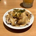 福しん - ウンパイロウ(ゆで豚とモヤシに辛いタレ)