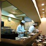 天ぷら わかやま - 店内風景