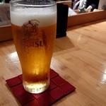 美酒喰処 タケウチ - ビール