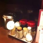 博多麺房 赤のれん - 卓上の調味料など