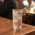 天ぷら酒場KITSUNE - 黒霧島(ソーダ割り)