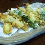 ほたる - 天ぷら盛り合わせ