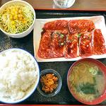 備長炭焼肉 てんてん - 料理写真:愛宕カルビ定食(ご飯大盛り)