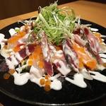 jidorisemmontenkoshitsuizakayakittei - 鮮魚3種カルパッチョ