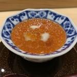 鮨 梅清 - イクラと白子の茶碗蒸し