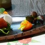 和菜割烹 いしだ - 2012/02の夜の会席料理(お造り)