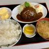 Yanagiyashiyokudou - 料理写真:訪問日の日替わり。お米は「おいでまい」を使用。