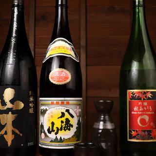 季節によって様々な日本酒をお届け。焼き鳥との相性ピッタリ!