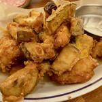 冨田書店 - ナス、かぼちゃ、鶏むねのフリット