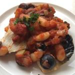 117335927 - サバのロースト 野菜のトマトソース 880円