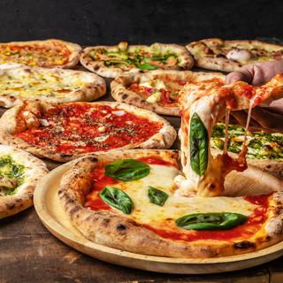 本格窯焼きピザが500円!選べる12種類