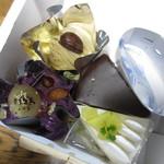 PATISSERIE Bien Sur - 紫いものモンブラン・モンブラン・サッハトルテ・メロンのショートケーキ