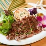 アロハテーブル ナチュラル - 料理写真:ビーフステーキプレート