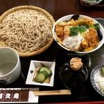 手打ちそば 悠久庵 - カツ丼セット ¥1,000-