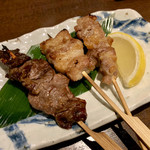 茨城地産地消の店 全席個室 もんどころ - 銘柄肉 三種串焼き