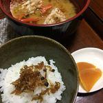 多賀田 - ちりめん山椒で白飯
