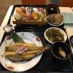 117377445 - 土曜限定上寿司セット、上焼魚定食