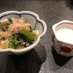 喜禄 - 小鉢 小松菜の炊いたん とろろ