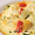 銀座イタリアン Fabi's  - リコッタチーズとほうれん草のクレープ包みオーブン焼き