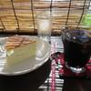 のんびり屋 - 料理写真:チーズスフレケーキとアイスコーヒー