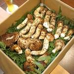 柚木元 - 今日頂きます大量の長野県産の松茸