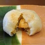 柚木元 - 松茸のおやき 松茸がたくさん