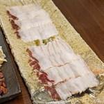 柚木元 - 熊と天然茸の鍋の熊肉