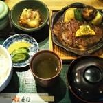 奴寿司 - ステーキランチセット(アイス付)
