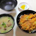 117388606 - 「 天狗家食堂 」さんの「 天丼・あさり貝汁 」