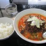 らーめん 麺の月 - 料理写真:坦々麺1辛&ライス