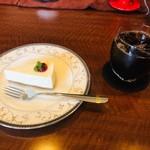 117395896 - レアチーズケーキ&アイスコーヒー