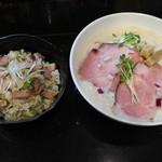 麺飯食堂 三羽鴉 - ランチセット(ラーメン・チャーシューまぜご飯)