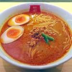 麺屋虎杖 - カレー担々麺¥676+味付け玉子¥100