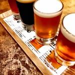 レストラン膳 - ドリンク写真:クラフトビール こだわりの4種飲み比べ。1,100円(税別)