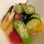 あい田 - 夏野菜の炊き合わせ
