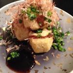 あい田 - 小芋土佐煮の唐揚げバルサミコソース