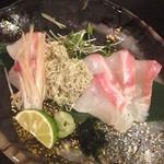 あい田 - 真鯛の昆布〆 煎り酒で