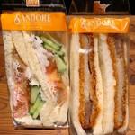 サンドーレ - 料理写真:やさいサンドとロースかつサンド