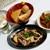もつ焼き丸昌 - 料理写真:駅前酒場 丸昌@仙台 おでん5点盛、煮込み、ガツ刺と熱燗