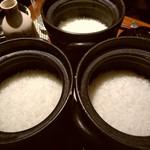 117417979 - 締めの土鍋ごはん三種