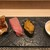 鮨榮 - 料理写真:穴子、トロ、雲丹