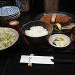 酒菜肉匠 ふるや - 厚切りロースカツ膳(2012年2月)
