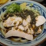 丸亀製麺 - (2019/8月)鶏チャーねぎだれぶっかけ