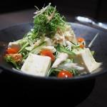117434625 - 「蒸し鶏と豆腐の胡麻サラダ」
