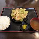 食堂 やまびこ - へちまの味噌煮
