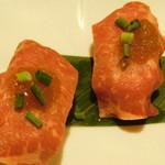 個室肉バル がむしゃら - 和牛ロースの炙り肉寿司