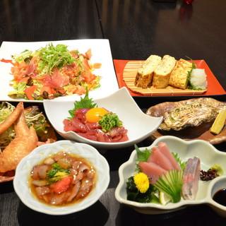 和食と創作料理の飲み放題コース5000円(税込)