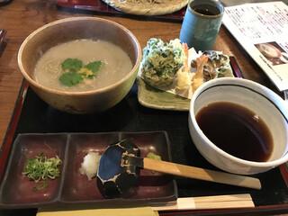 蕎舎 - 天ぷら付釜揚げ風そば