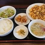 中華食堂 幸楽 - 麻婆豆腐定食